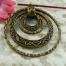 Free Ship 6 pieces bronze plated nice charms pendant 50x43mm #1849