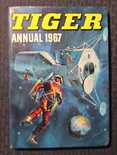 1967 TIGER UK Annual FN- Hardcover - Typhoon Tracy - Jet-Ace Logan