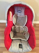 CHICCO Keyfit 30 Infant Car Seat Cushion Cover Canopy Straps Cover Red Beige