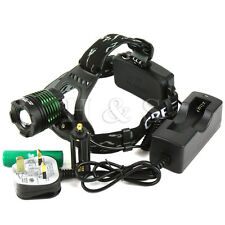 Zoomable CREE T6 LED Headlamp Fishing Camping Head Light Torch XML Rechargeable
