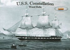 U.S.S. CONSTELLATION Wood Relic * Actual Piece of Historic Ship * Baltimore MD