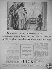 PUBLICITÉ 1927 BUICK VOITURE DES CONNAISSEURS ETS LOISEAU PARIS - ADVERTISING