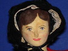 """NIADA Artist Helen Bullard NOTION NANNY 10"""" Wooden Holly Doll Ozone Tenn 1950s"""