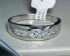 2C PRINCESS CUTS 925 STERLING SILVER MENS RING SIZE 13
