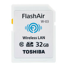 Toshiba FlashAir W-03 32GB 32G SDHC Wireless LAN Class 10 Wi-Fi SD Flash Card