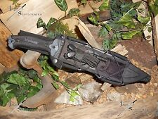 Machete/Bowie/Knife/Harpoon/Spear/Flint/Carbon steel/440/Full tang/Survival kit