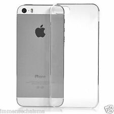 iPhone 5 5S Ultra Slim Crystal Clear Hard Plastic Transparent Back Case Cover
