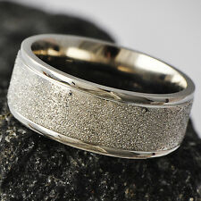 Sandy Men's White Gold Filled Band Promise Love Band Ring Size 9
