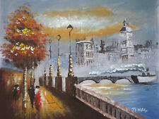 colorful london large oil painting canvas contemporary cityscape original art