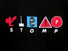 STOMP med T shirt theater percussion off-Broadway art troupe OG logo tee