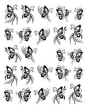 One Stroke Sticker,Tiere,Schmetterling,Tattoo, Aufkleber  Nr.1262