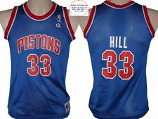 Maillot de basket NBA Détroit PISTONS N°33 HILL Taille youth L (us) -  S (fr)