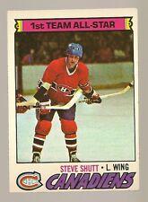 1977 - 1978 Topps Hockey Set STEVE SHUTT Card