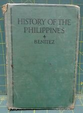 Antique 1940 Hardcover Book, History of the Philippines by Conrado Benitez