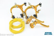 Dia-Compe MX883 - MX128 Gold Brake Set - Old Vintage School BMX Style Brakes