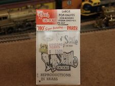 Cal-Scale HO Brass Large Pop-Valves for Modern Steam Engines PV-247