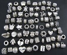 WM KING Antique Silver Plated Oxidized Metal Beads Charms Set Mix Lot - with w/