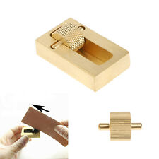 Brass Leather Craft Leather Edge Dye Oil Box Sew Mini Leather DIY Tool Set