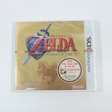 THE LEGEND OF ZELDA OCARINA OF TIME 3DS NINTENDO GOLD PROMO BOX POSTER - NO GAME
