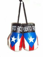 LOT OF 3 PUERTO RICO RICAN FLAG HANGING MINI BOXING GLOVES SOUVENIRS  WHOLESALE