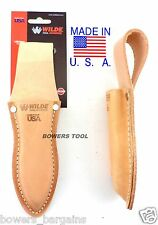 Wilde Tool Professional Leather Plier Pouch Heavy Duty Belt Loop MADE IN USA