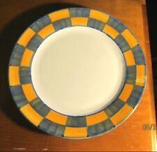 Made in Italy ~ Ceramic Chop Plate/Charger ~ Handpainted Border Gold & Blue
