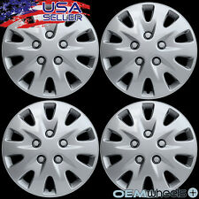 "4 NEW OEM SILVER 17"" HUB CAPS FITS HONDA SUV CAR ABS JDM CENTER WHEEL COVER SET"