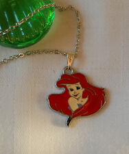 Kids childrens girls necklace DISNEY Princess Ariel mermaid silver plated