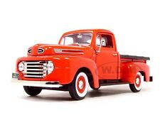 1948 FORD F-1 PICKUP TRUCK RED 1:18 DIECAST MODEL CAR BY ROAD SIGNATURE 92218