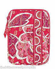 VERA BRADLEY~L-ZIP E-READER SLEEVE~ROSEY POSIES~FITS I-PAD MINI-NINTENDO DS~NWT