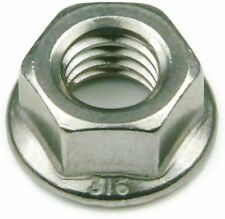 316 Stainless Steel Hex Serrated Flange Lock Nut UNC #10-24, Qty 25