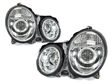 DEPO 00-02 Mercedes Benz W210 E Class Projector Chrome Headlight Pair DOT w/Bulb
