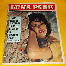 LUNA PARK 1961 n. 38 Giovanna Ralli, Il Quartetto Cetra