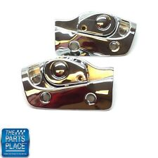 1965-70 GM B-Body Convertible Sunvisor Brackets - Chrome - Pair