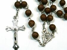 Rosary -  acrylic beads prayer beads rosary  - Rosary Crucifix Necklace in brown