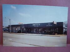 Old Postcard IA Manchester Smitty's Tires TV's Appliances Store Ad Card