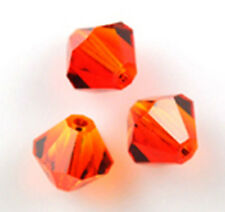 25 Swarovski Crystal Beads # 5301 Fire Opal 6MM