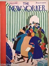 COVER ONLY ~ The New Yorker magazine ~ HAUPT ~June 4, 1932 ~ Top hat wedding dog