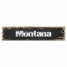 SP0074 Montana Street  Plate Sign Bar Store Shop Cafe Home Kitchen Chic Decor
