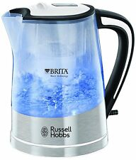 RUSSELL HOBBS 22851 PLASTIC BRITA FILTER PURITY KETTLE, 1L, 3000W, CLEAR **NEW**