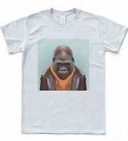 Gorilla Selfie T-shirt Funny Indie Retro Safari Tee Animal Monkey Portrait Top