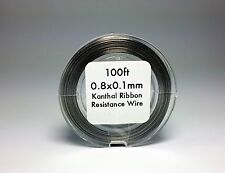 Flat Ribbon Kanthal A1 Wire 100ft Roll 0.8mm X 0.1mm 5.76 ohms/ft Resistance
