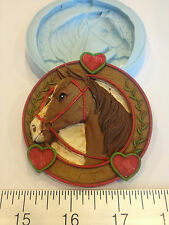 HORSE SILICONE MOLD #131 CHOCOLATE, FONDANT, GUMPASTE, CAKE, BAKING,PARTY FAVORS