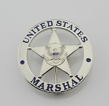 US MARSHAL - SILVER BADGE - LAPEL PIN - NEW - POLICE/LEO/GOVERNMENT