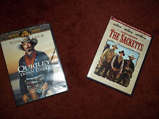 Lot of 2 DVDs Tom Selleck Westerns Quigley Down Under The Sacketts