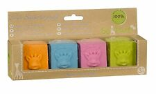 Sophie the giraffe gift set of rubber teething cubes