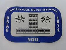 1971 Indianapolis 500 USAC Event Collector Decal Old Stock IMS Indy 500