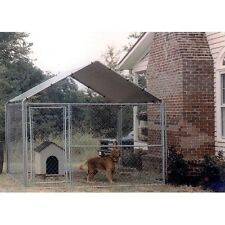 Dog House Cover 10x10 Kennel Canopy Outdoor Roof Cage Pen Crate Large Top Shade
