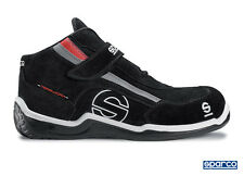 Sparco Racing H Boots (Colour: Black Suede, Size: 44 EUR/9.5