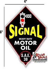 "6"" SIGNAL DIAMOND MOTOR OIL GASOLINE GAS PUMP TANK LUBSTER LUBESTER DECAL"